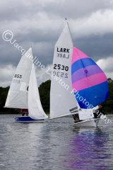 Sail No 855 & Sail No 2530 in the 10 Hour Race 2014 at Frensham Ponds SC