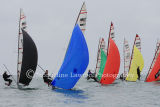 colourful spinnakers! Musto Skiff Nationals 2013 at Highcliffe Sailing Club - 16th June