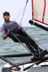 Musto Skiff Nationals 2013 at Highcliffe Sailing Club - 16th June. Sail No 64