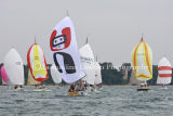 IRC Class 5, racing with colourful spinnakers out