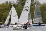 Solos sailing at Kingsmead Sailing Club