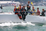 Class 5 IRC, sailors on JourneyMaker 5 racing at Cowes 2013