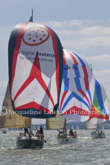 Class 6 IRC, Great sailing at Cowes 2013!!