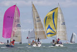 Class 6 IRC, Icom Cool Blue, Skiweekends.com & Wild Blue racing at Cowes 2013