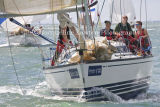 Class 6 IRC, Electron V racing at Cowes 2013