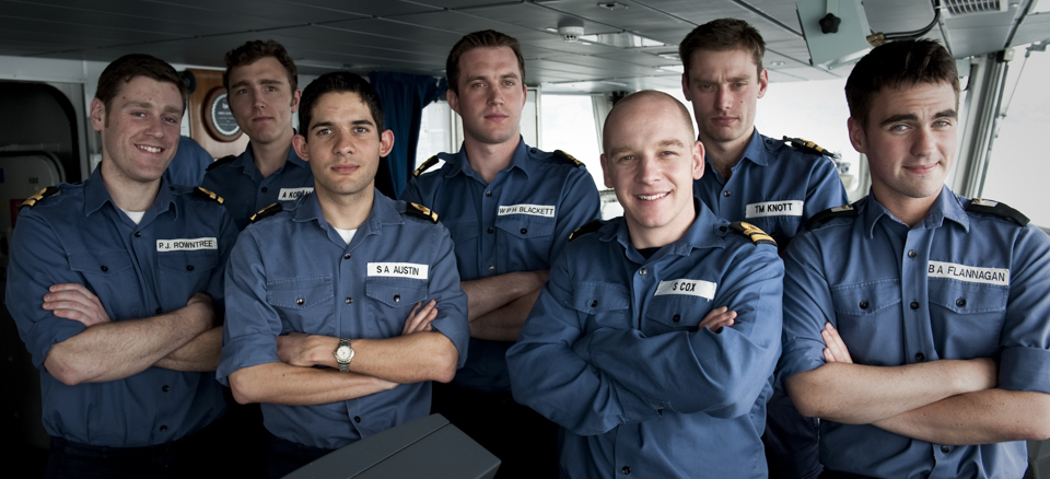 Young officers, HMS Daring