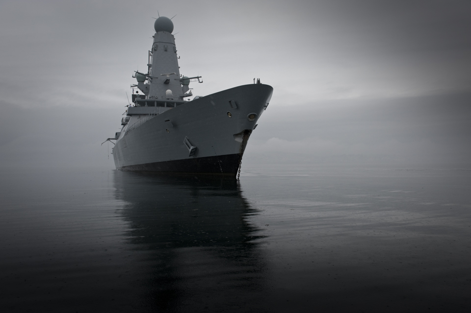 HMS Daring at anchor