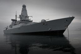 HMS Daring at anchor