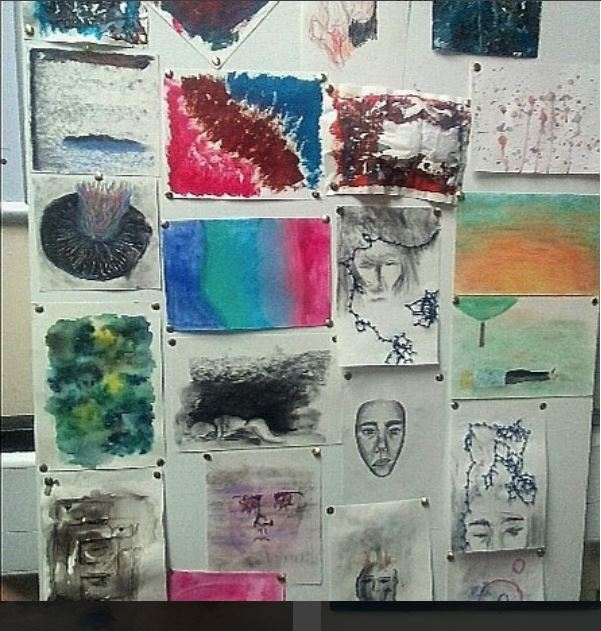 Hillsborough College Fine Art students first response