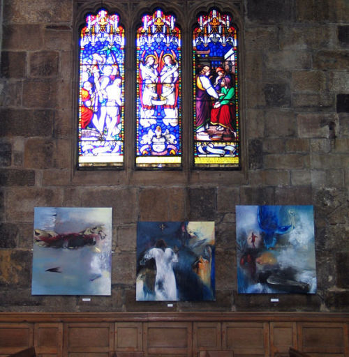 Triptych Sheffield Cathedral fallen Iraqi Walk on/ Looking for you 2