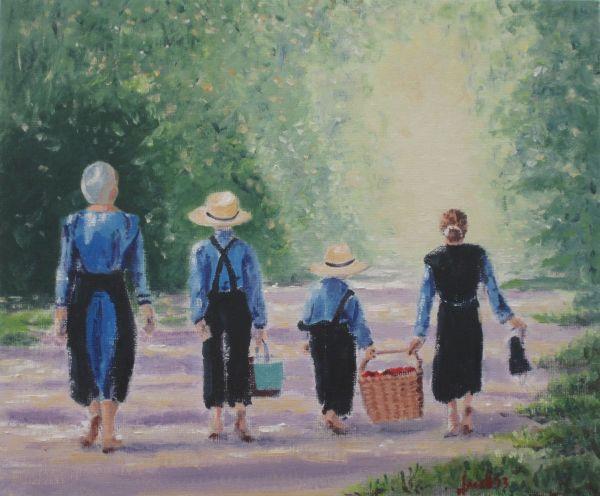 An Amish picnic; NFS