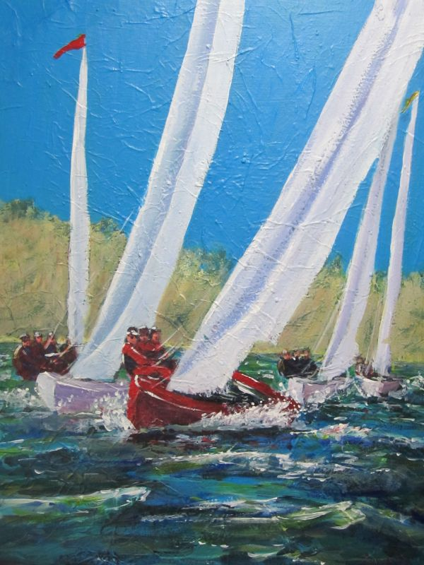 Billowing sails; sold