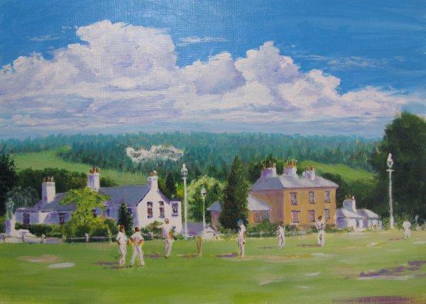 Cricket match on the Vine, Sevenoaks; sold