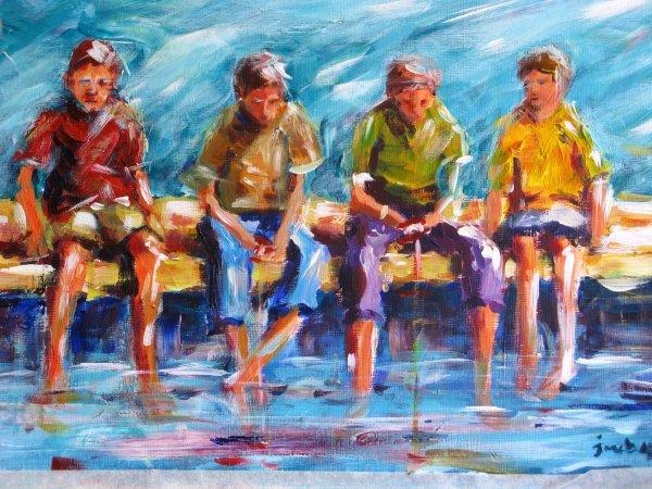 Four go crabbing ... somewhere; sold