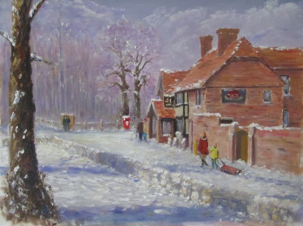 The Henry VIII pub in Hever ... in the snow;gifted