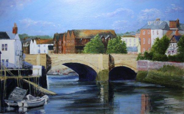 Across the bridge at Arundel; sold