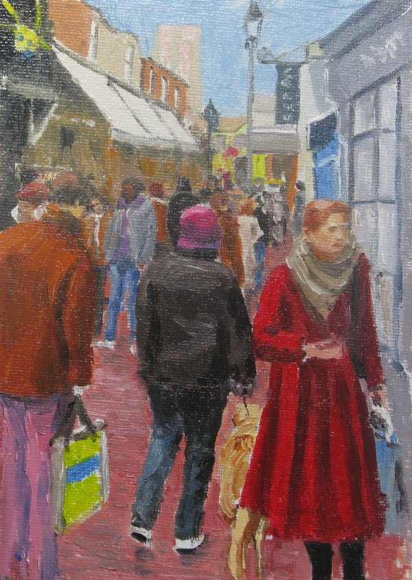 Red coat in the lanes