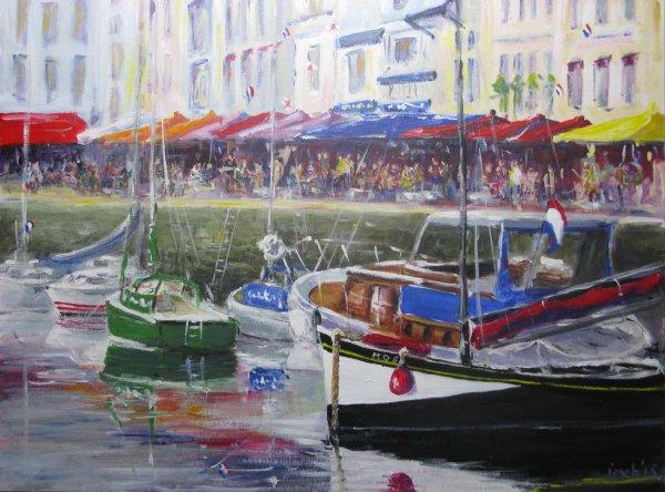 Honfleur harbour, Normandy France 2013; sold
