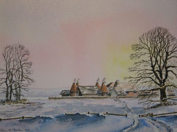 Kentish winter scene; sold