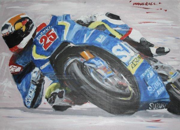 Maverick Vinales at Silverstone; NFS sketch