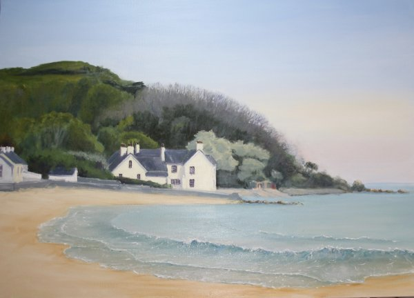 House on the Antrim coastal route; NFS