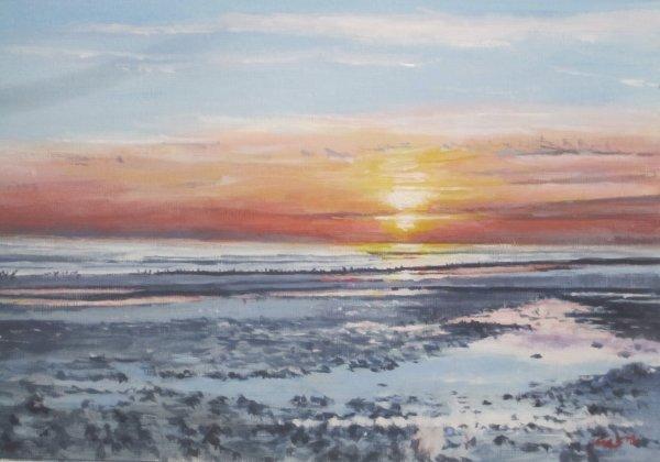 Evening sun over Ferring; sold