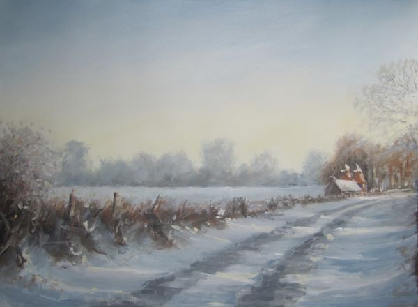 Kent lane in the snow; gifted