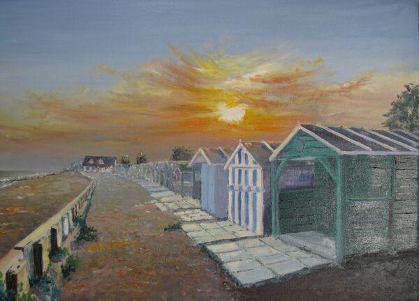 Ferring beach-huts during lockdown; sold