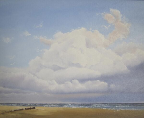 Billowing clouds over Ferring