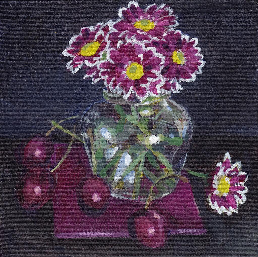 Chrysanthemum and Cherries