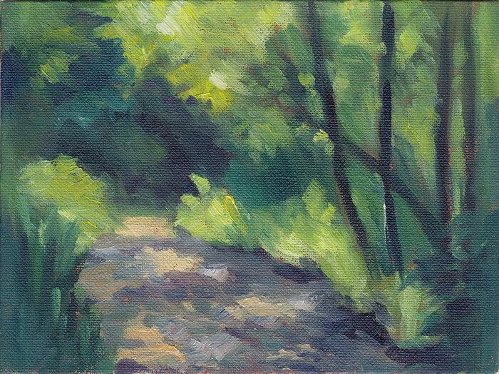 Dappled Light, Forest Path