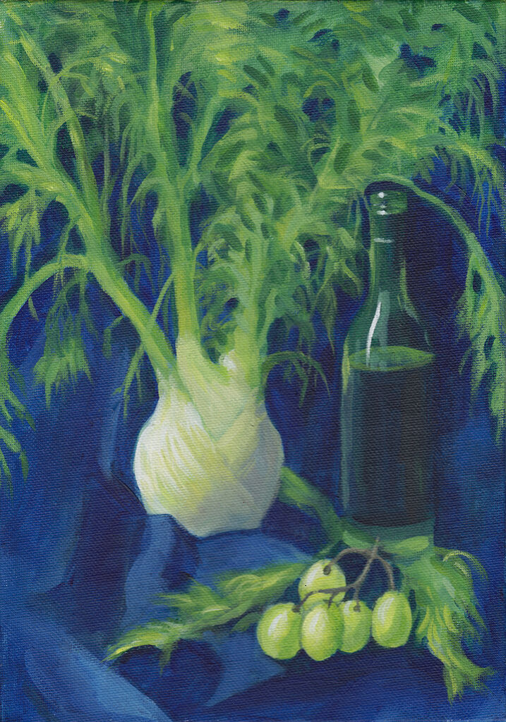 Fennel on Blue