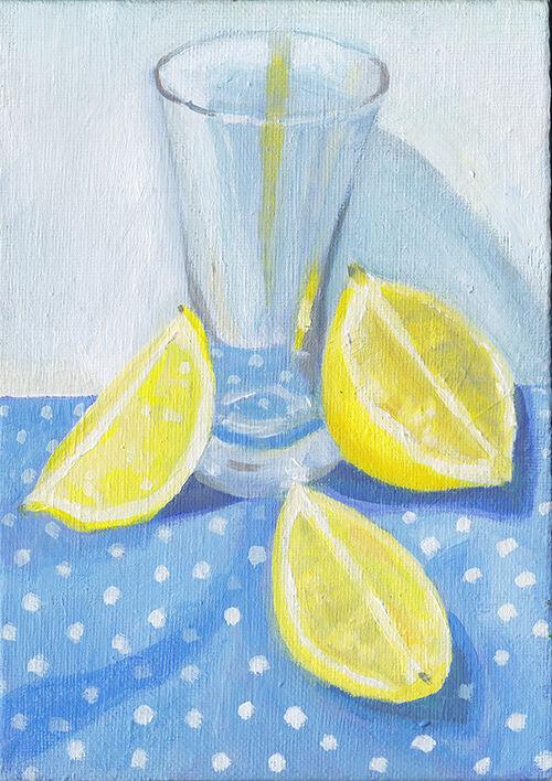 Lemon and Polka Dots