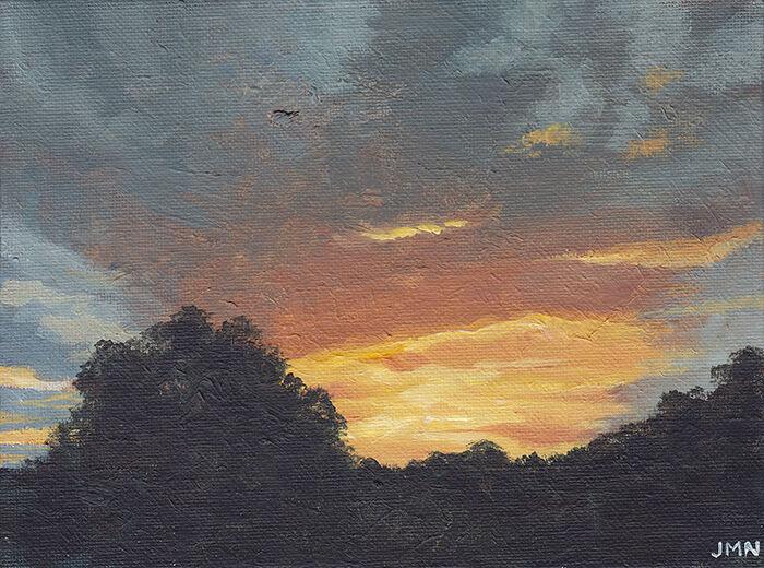 Hertfordshire Sunset, October
