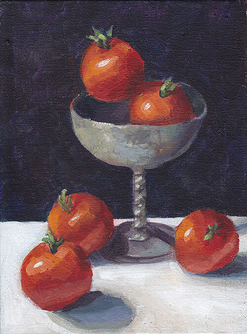 Tomatoes and Silver Goblet
