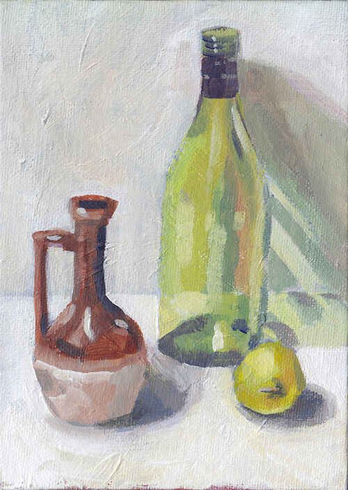 Vase, Bottle and Quince