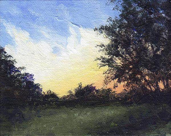 Sunrise Behind Trees