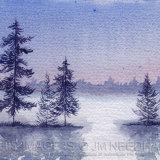 Misty Winter Lake