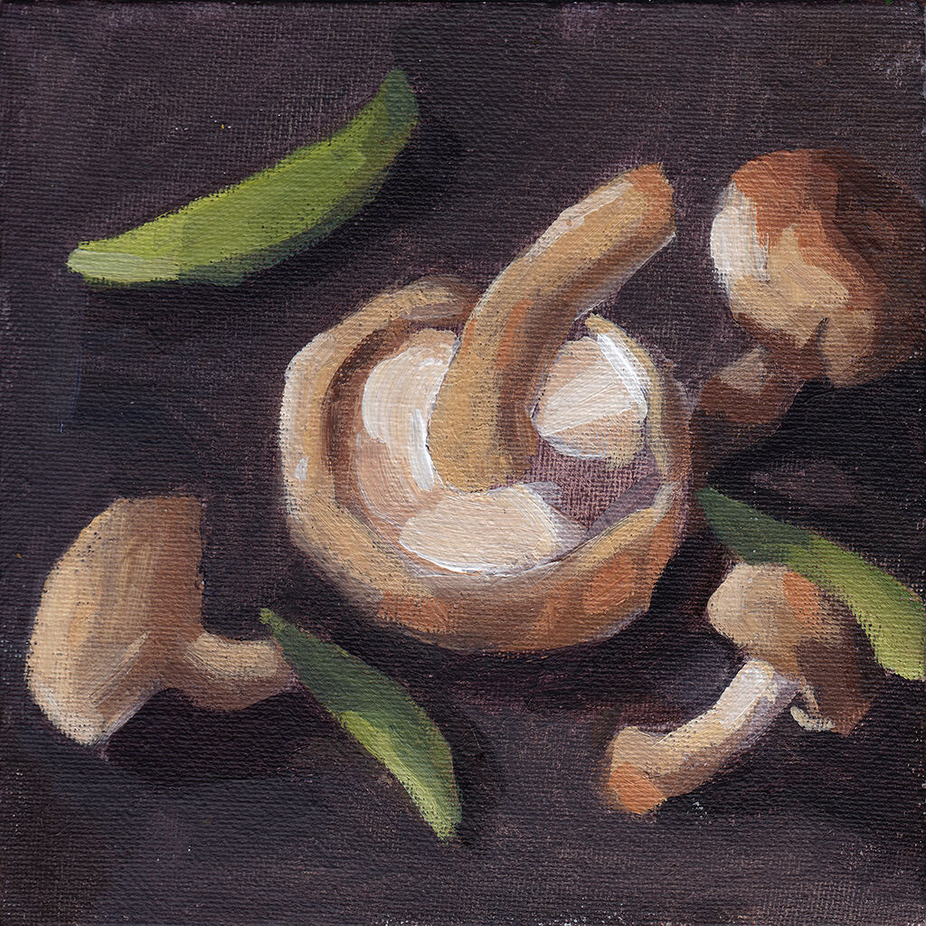 Shiitake Mushrooms and Mange Tout