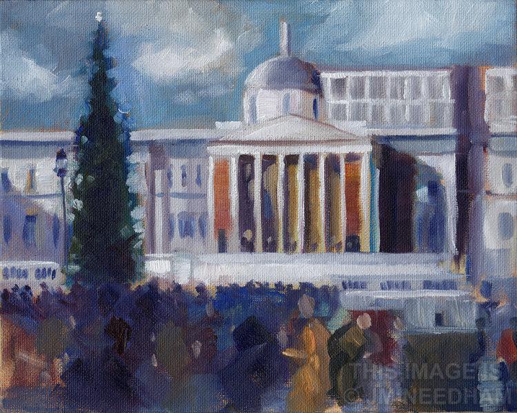 Trafalgar Square, December