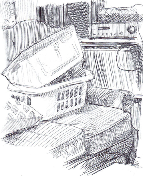 Laundry Baskets at Rest