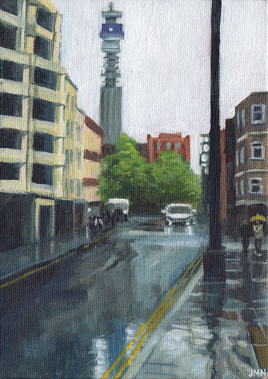 Rain, Rathbone Place