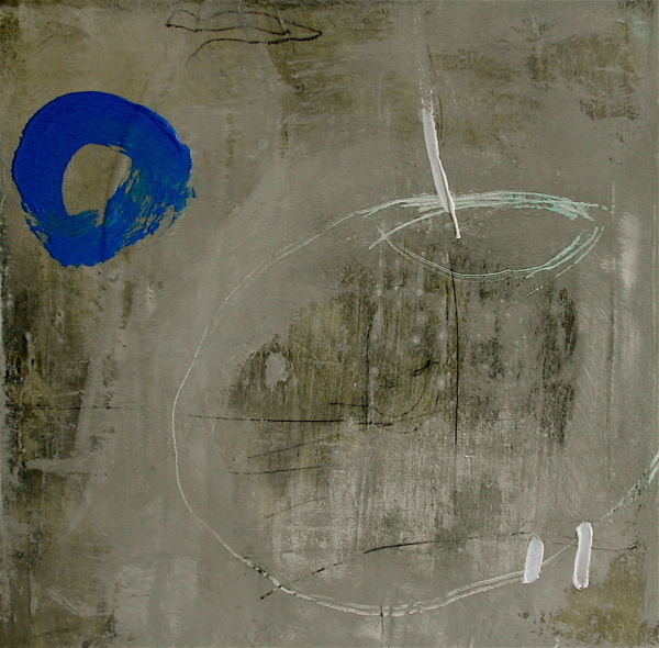 Patch of Earth 30x30cm  mixed medium on canvas SOLD