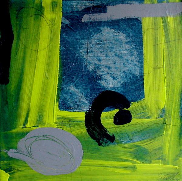 Yellow Grass 30x30cm  mixed medium on canvas SOLD