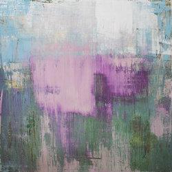 Purple Rain 100x100cm mixed media on canvas
