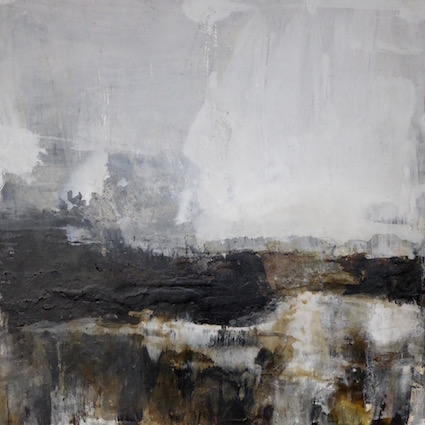 To The Heath - 60x60cm mixed media on board SOLD