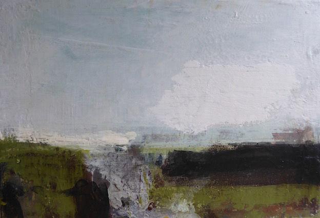 Gentle Breeze - 40x30cm mixed media on canvas