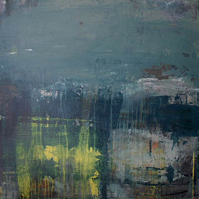 Morning mist 100x100cm mixed media on canvas SOLD
