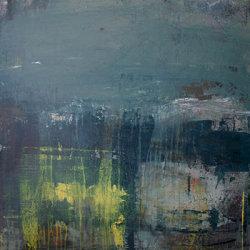 Morning mist 100x100cm mixed media on canvas