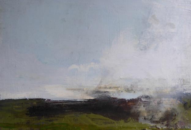 Sea Glimpse - 40x30cm mixed media on canvas